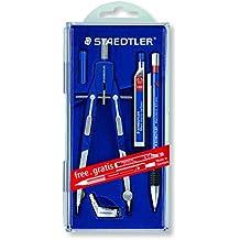 Staedtler 552 01 PR1 - Compás de precisión con rueda central