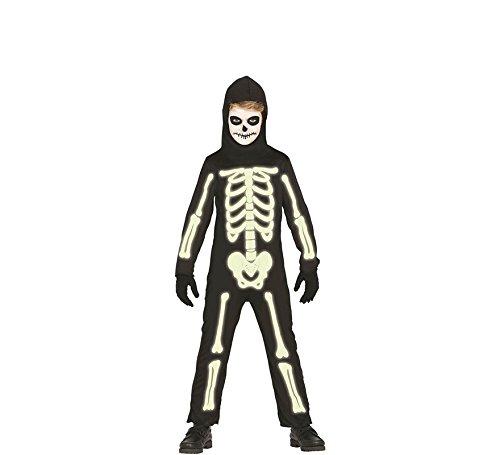 Imagen de disfraz de esqueleto brillante para niños