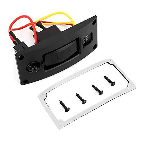 USB Schalter, 5V 3.4A wasserdicht Boot Marine RV Dual Port USB Ladegerät Meter Panel Schalter mit Leistungsschalter Ac-leistungsschalter-panel