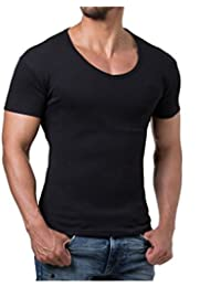Young and Rich - Tee shirt col V plongeant Young and Rich 74 Noir
