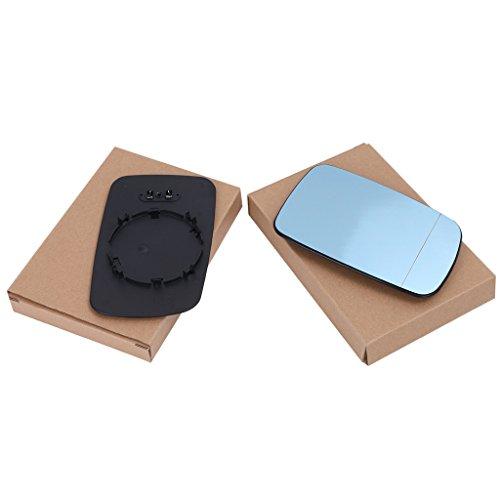 Preisvergleich Produktbild Paar Rechts + Links Blau Spiegelglas Heizbar Aussenspiegel für BMW 5series E39 / 7series E38