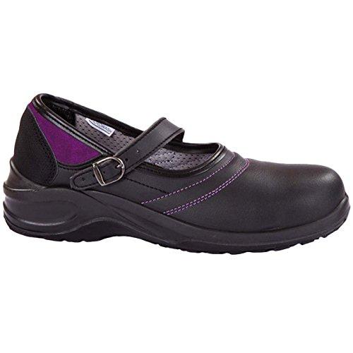 Giasco Halbschuh Violet S3, Größe 40, 1 Stück, schwarz/lila, BL100O40