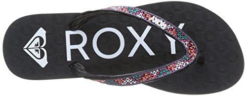 Roxy Stitch, Damen Zehentrenner Schwarz - Schwarz (Black)