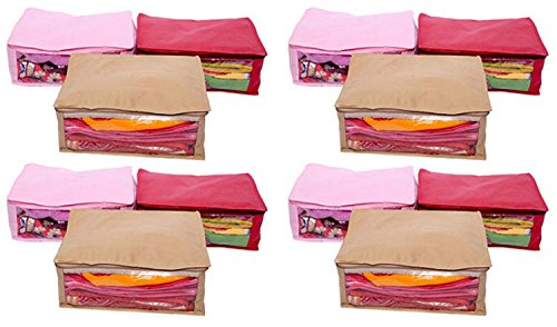 Kuber Industries™ Non Woven Saree Cover 12 Pcs combo Multi Color (Exclusive...