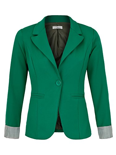 DANAEST Eleganter lässiger doppelreihiger klassischer Business Blazer (625), Farbe:Grün, Blazer 1:42/XL