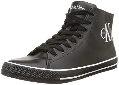 Calvin Klein Ozzy Matte Smooth, Scarpe da tennis sopra la caviglia uomo, Nero (Black (nero)), 44