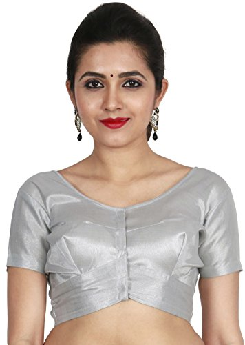 JISB Tissue blouse stitched & ready to wear, Silver color (XXXXL-44)