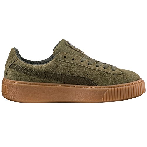 Puma-Basket-Heart-Patent-Zapatillas-Charol-Blanca-y-Rosa-para-Mujer-Sneaker