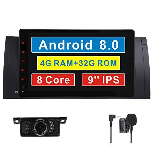 17,8cm lecteur DVD de voiture stéréo double DIN EN Dash GPS pour voiture pour BMW E39E53E38SAT NAV Autoradio 3G radio BT RDS Bluetooth Navi AM FM Autoradio avec carte de 8Go gratuit carte SD