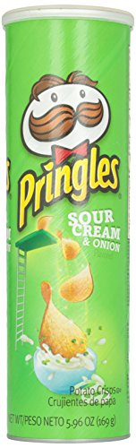 Pringles Potato Chips, Sour Cream and Onion, 169g