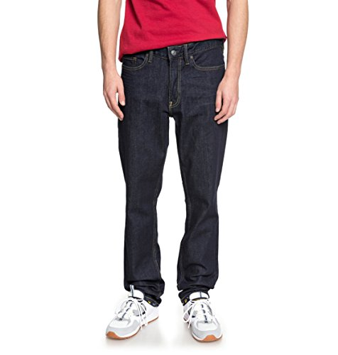 DC Shoes Worker Indigo Rinse - Straight Fit Jeans for Men - Männer (Dc Jeans Shoes)