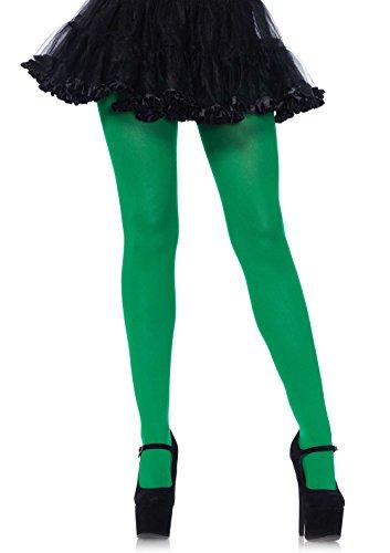 Leg Avenue Strumpfhose blickdicht Kelly Grün Größe Plus Size (Plus Strumpfhose Avenue Size Leg)