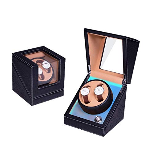 HYLH Automatic Double Watch Winder, 4 Rotation Modes, Quiet Motor with Watches Storage Display Box