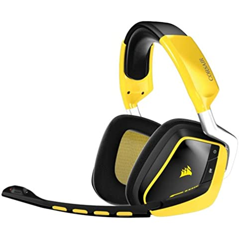 Corsair Gaming VOID Yellow Jacket - Auriculares cómodos de gaming para PC (inalámbricos, USB, Dolby 7.1), amarillo (CA-9011135-EU)