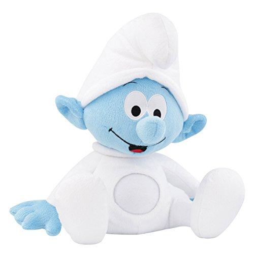 ANSMANN LED-Nachtlicht Baby Schlumpf / Niedliche Einschlafhilfe zum Kuscheln mit Schlummerliedfunktion & sanftem Licht für ruhigen Tiefschlaf / Kuschelweiches 2-in-1 Plüschtier für Babys & Kleinkinder 4