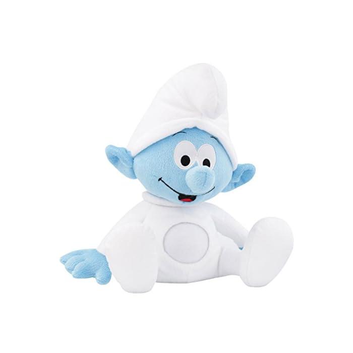 ANSMANN LED-Nachtlicht Baby Schlumpf / Niedliche Einschlafhilfe zum Kuscheln mit Schlummerliedfunktion & sanftem Licht für ruhigen Tiefschlaf / Kuschelweiches 2-in-1 Plüschtier für Babys & Kleinkinder 1