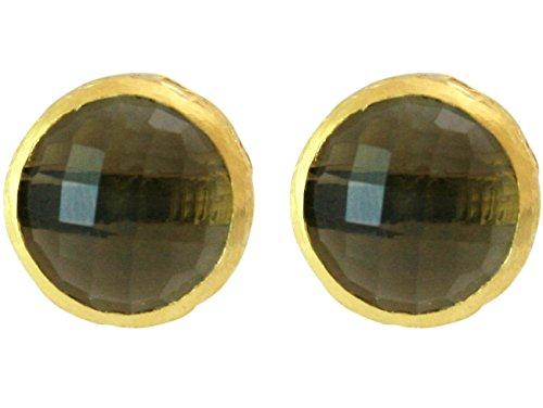 gemshine-pendientes-plata-de-ley-chapado-en-oro-de-18k-labradorita-gris-facetado-12-mm