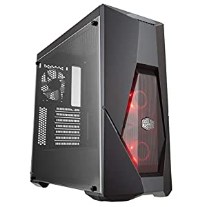 "Cooler Master MasterBox K500L Computer Case ""ATX, Micro-ATX, Mini-ITX, Red LED Fans, Acrylic Side Panel"" MCB-K500L-KANN-S00"