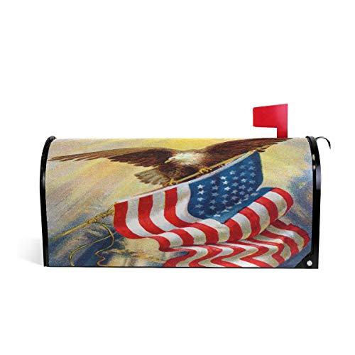 77dcb92034e Naanle Briefkastenabdeckung, magnetisch, Motiv: Bald Eagle und  amerikanische Flagge, 4. Juli