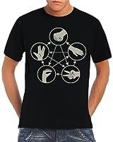 Touchlines Herren T-Shirt Big Bang Theory - Stein Schere Papier Echse Spock