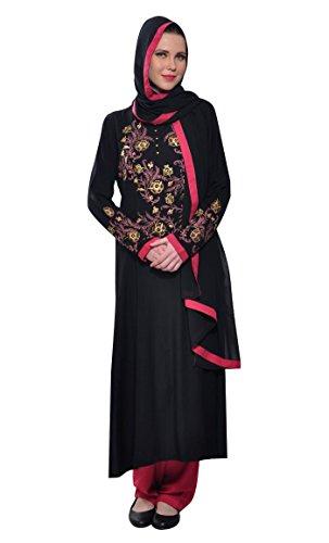 East Essence - Robe - Manches Longues - Femme Noir - Noir