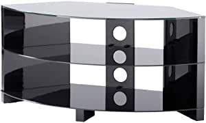 Alpha by Alphason High Gloss Black Corner TV Stand