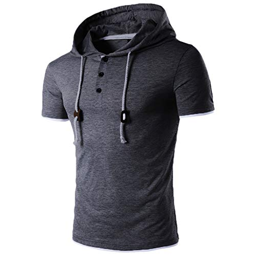 CICIYONER Herren Kurzarm Kapuzenshirt Hoodie T-Shirt Sommer Kurzarmshirt Poloshirts S M L XL XXL