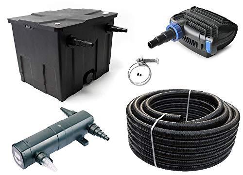 SUNSUN Teichfilter Set 12.000l CBF350 +Eco Pumpe +UVC Klärer +10 Meter Teichschlauch