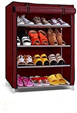 PAffy Eco-SR-4L Steel and Fabric Cloth Cabinet (Multicolor)