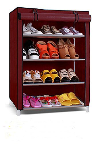 Paffy Shoe Cabinet, 4-5 Layer, Shoe Rack Organiser, Colour - Random Colour