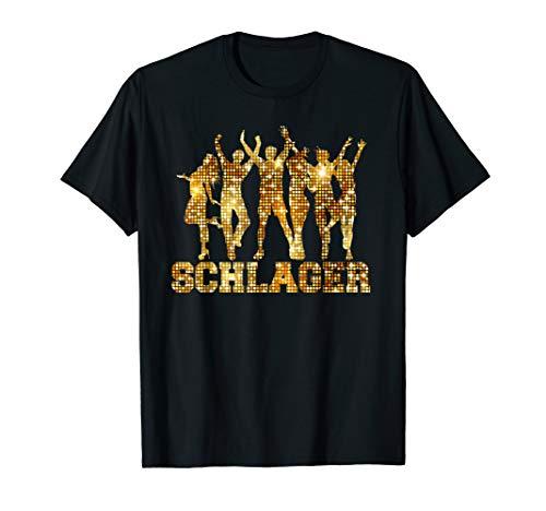 Schlager T-Shirt Retro Disco Mallorca Saufen Party Geschenk