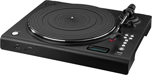 IMG Stageline DJP-106SD Stereo-Hi-Fi-Plattenspieler mit USB-Port, SD-Card-Slot,integrierter Phono-Vorverstärker,schwarz - Turntable System Stereo