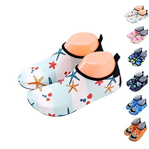 Xueliee Kleinkinder-Schuhe für Kinder Schwimmen Wasser Schuhe für Jungen, Mädchen, barfuß Aqua Schuhe Strand Schwimmen, Starfish 24-25