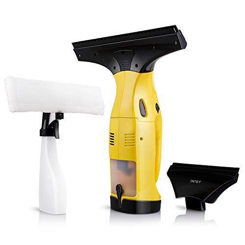 INTEY Fenstersauger, Fensterreiniger, Set Dry & Clean, Akku Fenstersauger, Elektrischer Fensterputzer, Reinigungsmachine für Fenster und Auto, Wechselbarer Düse, bis zu 40 Minuten (3.7V 150ml)
