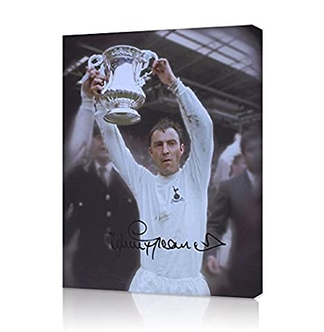 Framed Jimmy Greaves Signed Spurs Canvas - 1967 FA Cup