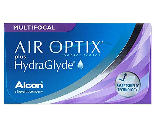 Air Optix plus HydraGlyde Multifocal Monatslinsen weich, 6 Stück / BC 8.6 mm / DIA 14.2 mm / ADD LOW / -3.5 Dioptrien