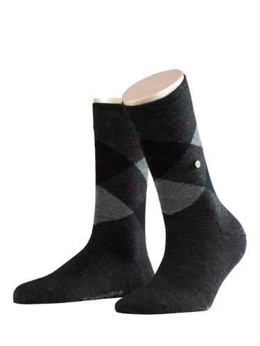 Burlington Damen Socken Marylebone, Gr. 36/41, grau (grau 3080)