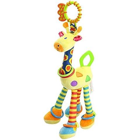Domila Passeggino musicali–Giraffa di peluche da appendere Bell culla Sonaglio Chew Toy