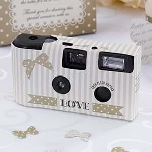 Einwegkameras LOVE in Creme - 10 Stück Hochzeitskameras