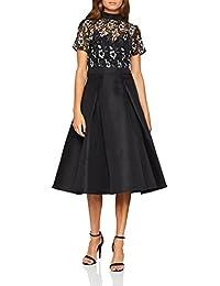 Little Mistress Womens Monochrome Midi Dress