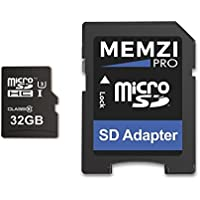 MEMZI PRO 32GB Micro SDHC Memory Card for GoPro Action Cameras - High Speed Class 10 95MB/s Read 60MB/s Write UHS-I Class 3 4K 2K 3D Full HD Recording with SD Adapter