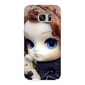 Special Hugging Teddy Doll Multicolor Back Case Cover for Galaxy S7
