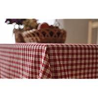 Mantel de lino estilo Simple WFLJL café restaurante toalla cubierta de celosía de ...