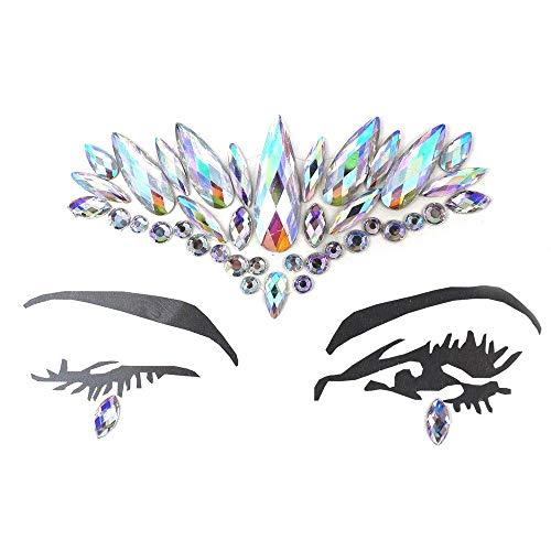 Tianzhiyi Schminkkasten DIY Augenbrauen Gesicht Body Art Tattoo Aufkleber Make-up Dekorationen (Size : 3)