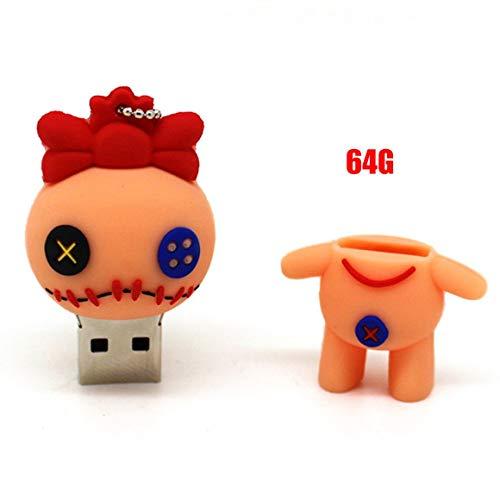 Funnyrunstore Cartoon Pen Drive Monster-Puppe USB-Flash-Speicher-Memory-Stick (64G)