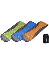 Sekey (190 + 30) x75cm imperméable à l'eau sac de couchage modulaire 2-3 saison | un sac de couchage en forme de l'enveloppe | grand Sac de couchage léger | Sac de couchage pour camping | Sac de couchage d'été avec sac de support, adapté pour le camping, les voyages, les randonnées ou à l'intérieur