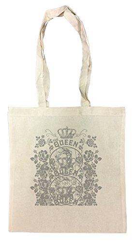 fe0a39fcf009 Queen Diva Bolsa De Compras Playa De Algodón Reutilizable Shopping Bag Beach