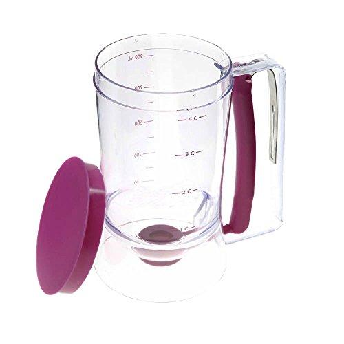 SODIAL Generico Dispensador de masa de pastel en taza pan de companero cocinero - Capacidad de 4 tazas - Encaje en la tapa