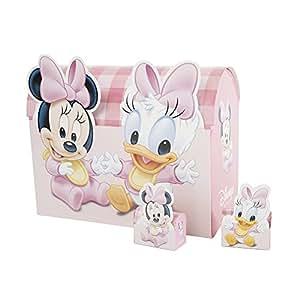 32 boites à dragées Minnie et Daisy + Présentoir
