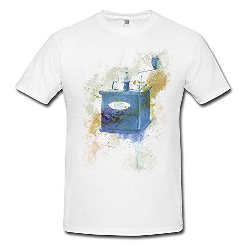 Kaffemuehle Vintage Herren T- Shirt , Stylisch aus Paul Sinus Aquarell Old Style